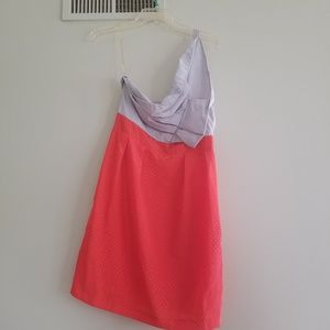 Esley red and grey one shoulder dress -M